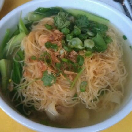 Get the shanghai wonton soup with noodles!