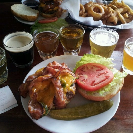 Photo taken at Pocono Brewing Company by Sarah G. on 8/12/2012