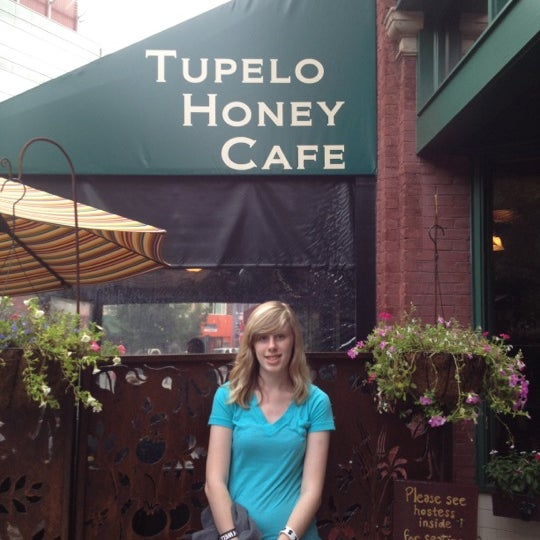 Photo taken at Tupelo Honey Cafe by Becky G. on 7/11/2012