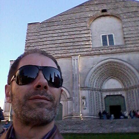 Photo taken at Basilica di San Fortunato by Maurizio d. on 4/9/2012