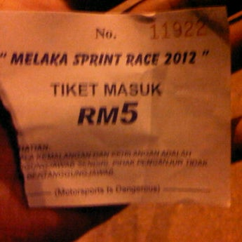 Photo taken at Eye On Malaysia Melaka Sprint Race by ahmad m. on 7/7/2012
