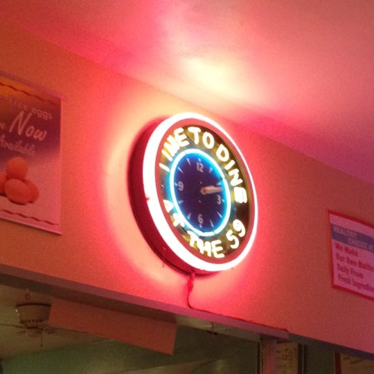 Photo taken at 59 Diner by Vincent A. on 7/15/2012