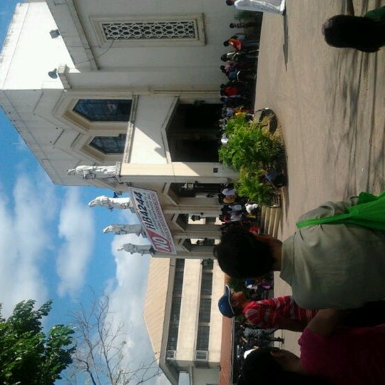 Photo taken at National Shrine of Our Lady of Peace and Good Voyage (Antipolo Cathedral) by Alida Faye A. on 1/22/2012
