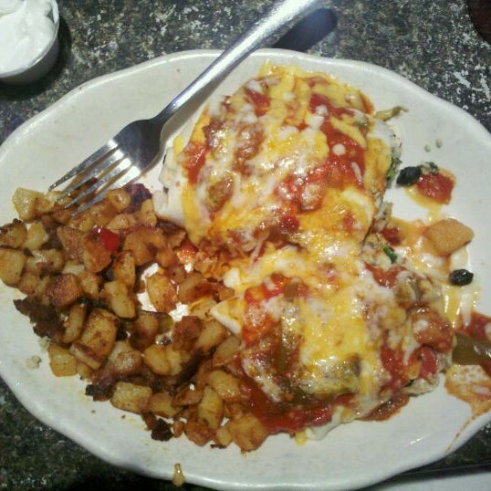The breakfast enchiladas are to die for!