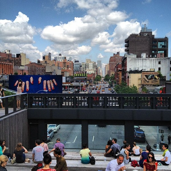 Photo taken at High Line 10th Ave Amphitheatre by Greg L. on 6/14/2012