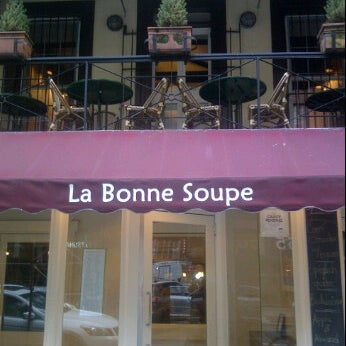 Photo taken at La Bonne Soupe by Edward B. on 3/16/2012