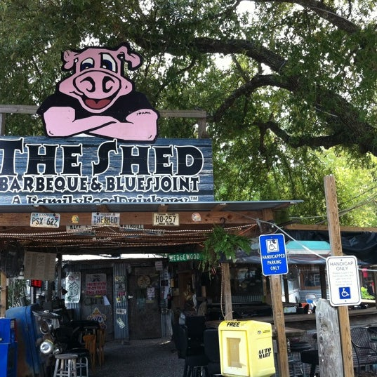 Photo taken at The Shed Barbeque and Blues Joint by Teri L. on 8/2/2011