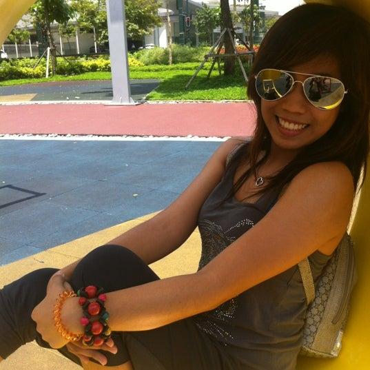 Photo taken at Bonifacio High Playground by Erika on 8/11/2012