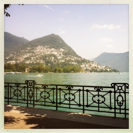 Photo taken at Lago di Lugano by Maurice d. on 7/27/2012