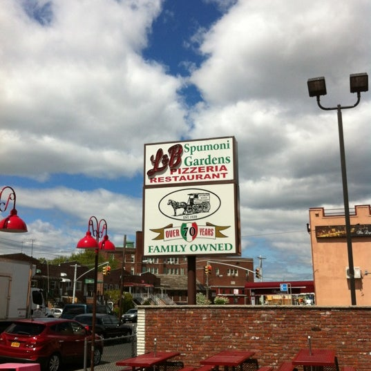 Photo taken at L&B Spumoni Gardens by Christopher M. on 4/27/2012