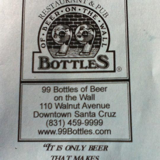 Photo taken at 99 Bottles of Beer on the Wall by Lisa R. on 1/28/2012
