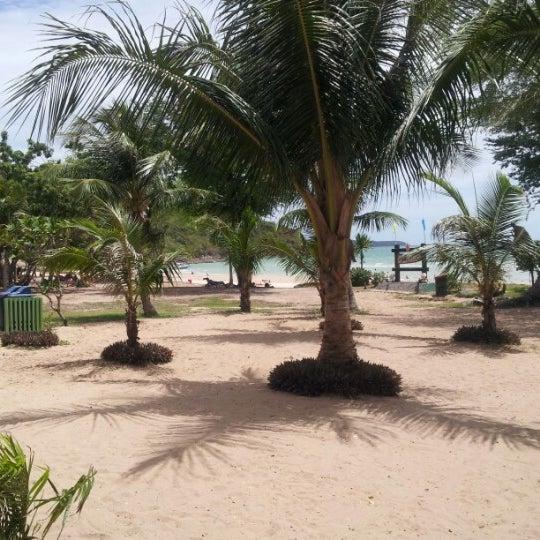 Photo taken at Sai Keaw Beach by Julia T. on 8/1/2012