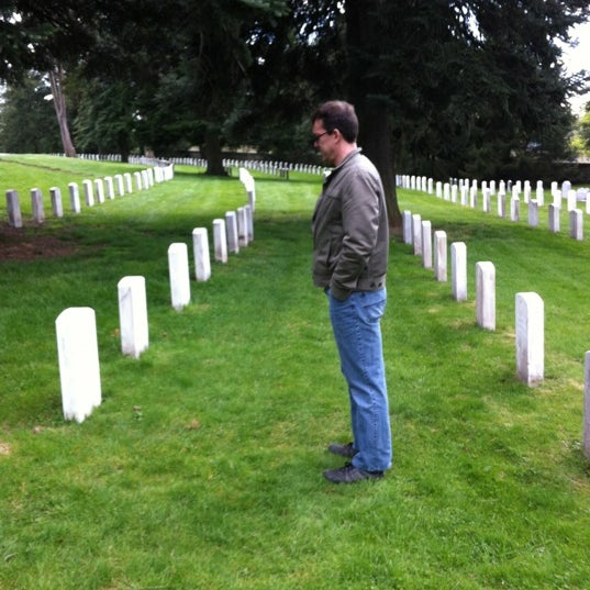 Photo taken at Soldiers' National Cemetery by Amy R. on 4/12/2012