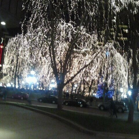 Photo taken at Rice Park by Kelsey M. on 12/16/2011