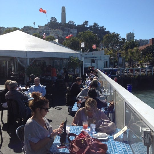 Photo taken at Pier 23 Cafe by Andrew D. on 9/7/2012