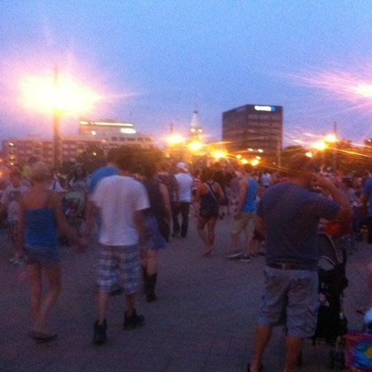 Photo taken at John T. Myers Pedestrian Bridge by Sarah R. on 7/5/2012
