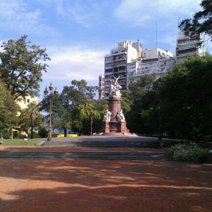 Photo taken at Plaza Francia by Vicye P. on 4/14/2012