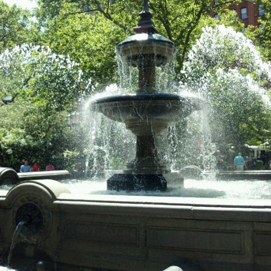 Photo taken at City Hall Park by Amy S. on 6/16/2012