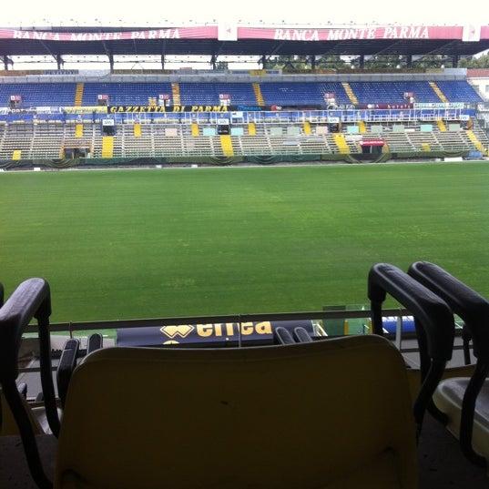 Photo taken at Stadio Ennio Tardini by Valeria P. on 7/25/2011