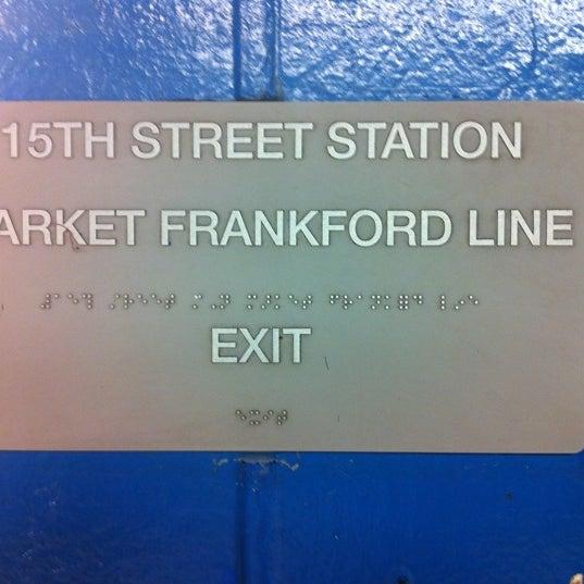 Photo taken at SEPTA: 15th Street Station (MFL/TRL) by Jonathan C. on 5/30/2011