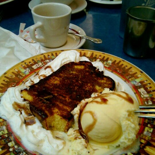 Grilled pound cake with a scoop of ice cream!