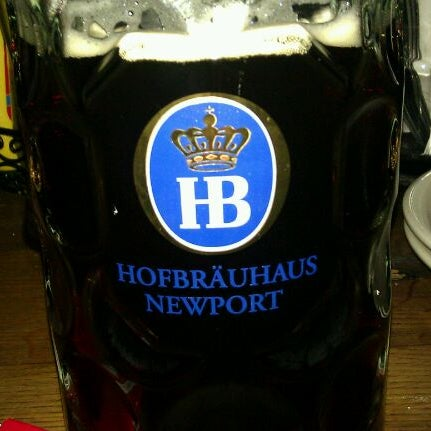 Photo taken at Hofbräuhaus Newport by Tim E. on 10/15/2011