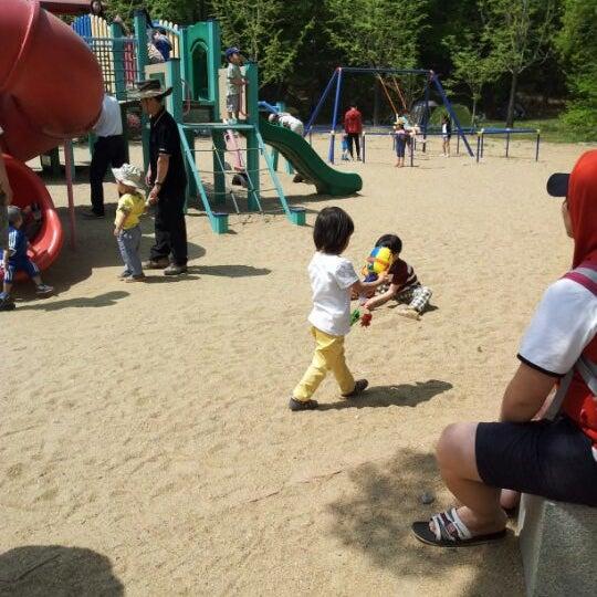 Photo taken at Yuldong Park by G Rim I. on 5/5/2012