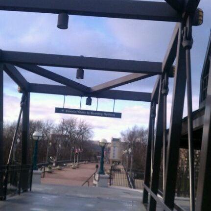 Photo taken at John T. Myers Pedestrian Bridge by Valentin S. on 12/9/2011