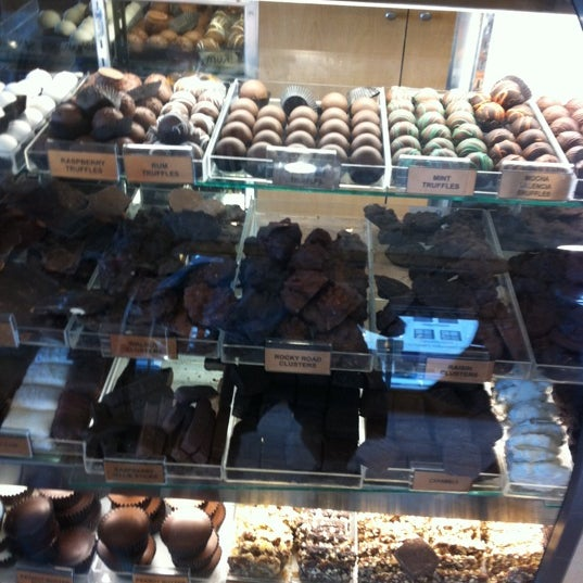 Photo taken at Rocky Mountain Chocolate Factory by Alan Z. on 8/29/2011