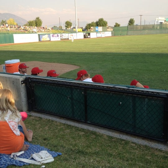 Photo taken at Brent Brown Ballpark by Tom M. on 7/3/2012