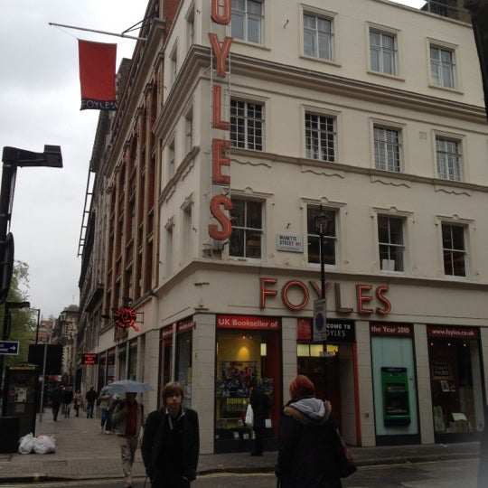Photo taken at Foyles by Andrea N. on 5/4/2012