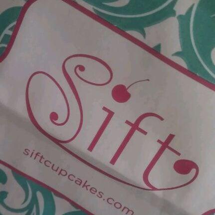 Photo taken at Sift Cupcake & Dessert Bar by Fi D. on 10/4/2011