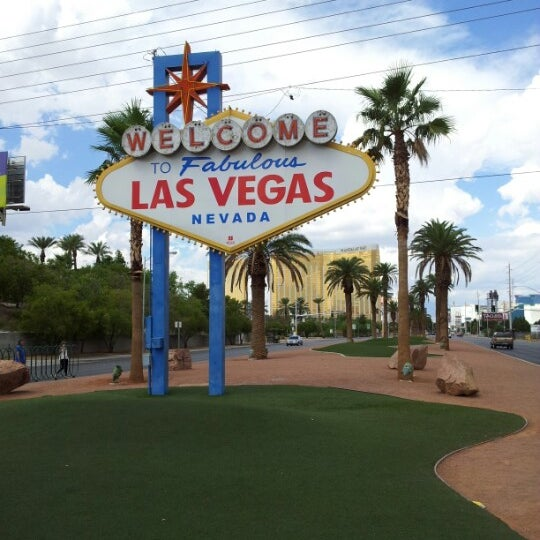 Photo taken at Welcome To Fabulous Las Vegas Sign by Aj S. on 8/31/2012