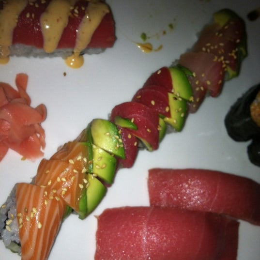 Photo taken at Fuji Japanese Steakhouse & Sushi Bar by Leigh B. on 4/8/2012