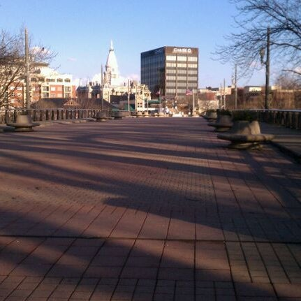Photo taken at John T. Myers Pedestrian Bridge by Valentin S. on 2/29/2012