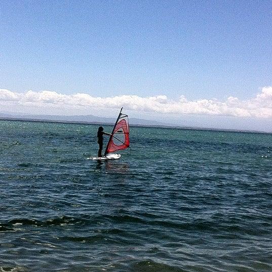 Photo taken at Playa El Yaque by Beatriz P. on 2/21/2012