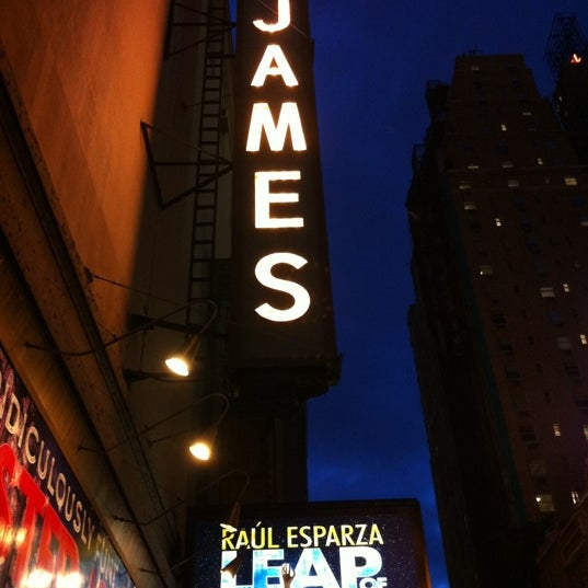 Photo taken at St. James Theatre by Lauren S. on 4/3/2012