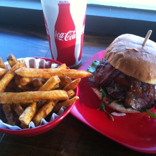 Photo taken at G Burger by Brian T. on 7/21/2011