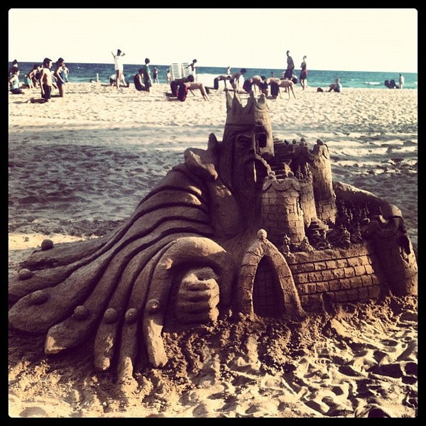 Photo taken at Platja de Calafell by Marta G. on 9/3/2012