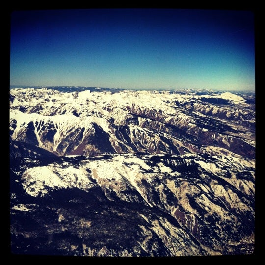 Photo taken at Aspen/Pitkin County Airport (ASE) by Laura V. on 3/22/2012