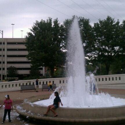 Photo taken at John T. Myers Pedestrian Bridge by Valentin S. on 9/23/2011