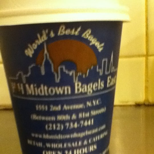 Photo taken at H&H Midtown Bagels East by Yasunori A. on 2/1/2012