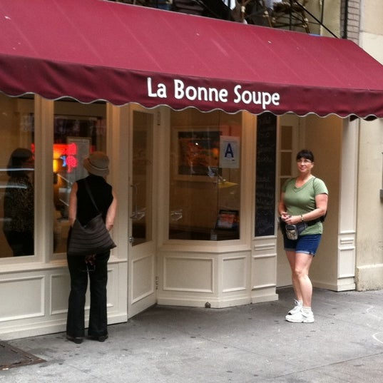 Photo taken at La Bonne Soupe by Steve E. on 9/25/2011