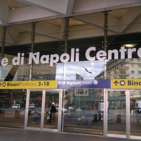 Photo taken at Stazione Napoli Centrale by Cary on 1/14/2012