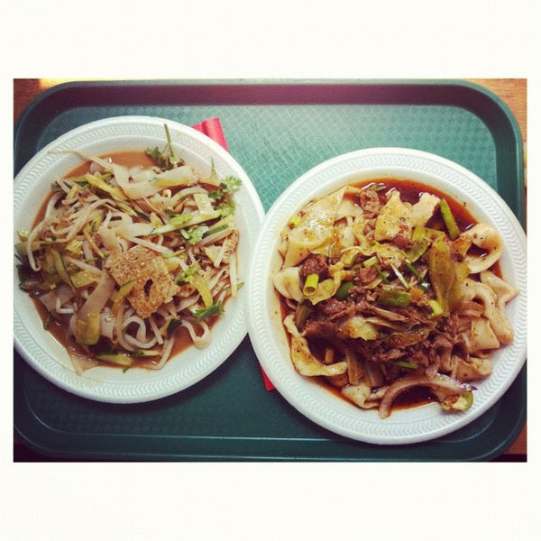 Photo taken at Xi'an Famous Foods by Courtney T. on 7/16/2012