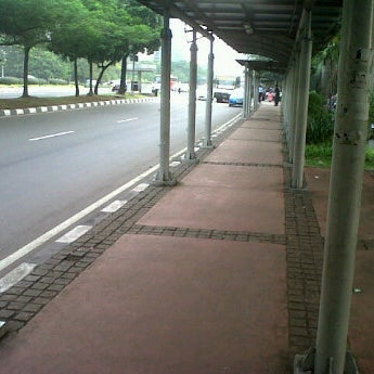 Photo taken at Halte Bus Dukuh Atas by okkylh n. on 4/18/2012
