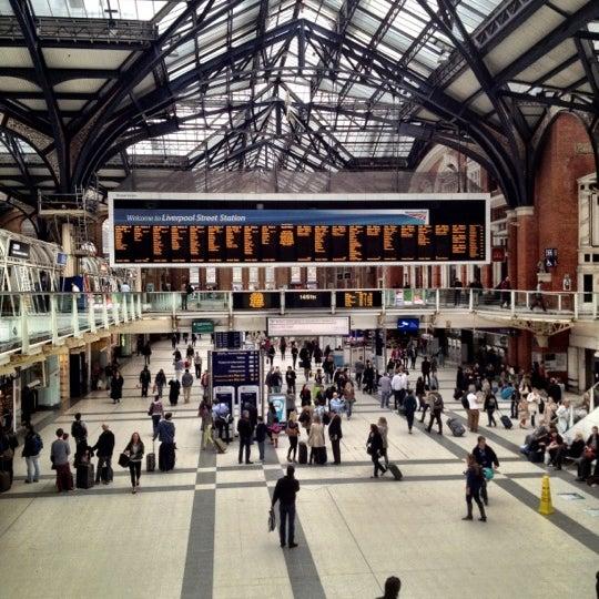 Photo taken at London Liverpool Street Railway Station (ZLS) by Gela K. on 5/19/2012