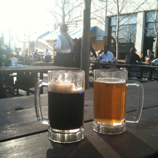 Photo taken at Zeppelin Hall Biergarten by Milton G. on 3/18/2011
