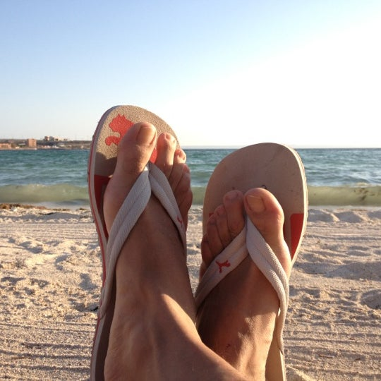 Photo taken at Playa Pichilingue by Remy K. on 6/21/2012