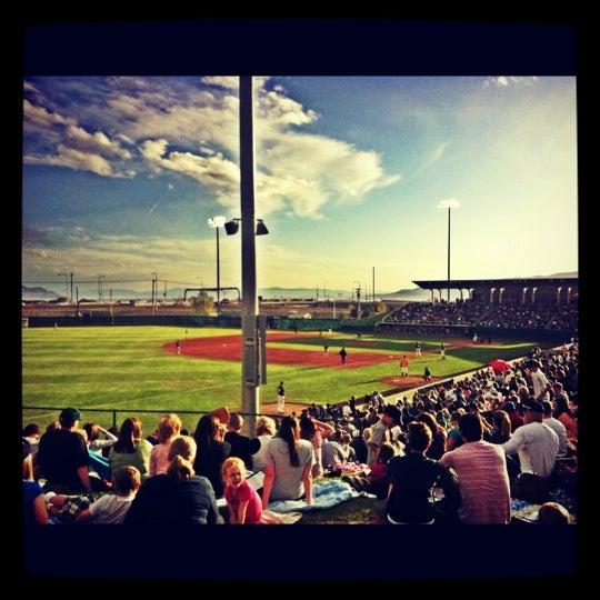 Photo taken at Home of the Owlz (Brent Brown Ballpark) by Jack W. on 5/2/2012